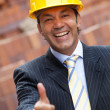 Male engineer with thumbs up — Stock Photo