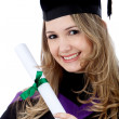 Stock Photo: Graduated woman