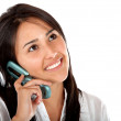 Stock Photo: Girl on the phone