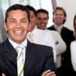 Business man with a group — Stock Photo #7747369