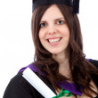 Female graduate portrait — Stockfoto