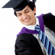 Stock Photo: Graduated mholding something
