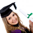 Graduation woman portrait — Stock Photo #7747462