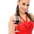 Woman with a glass of wine — Stock Photo #7747498