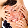 Man with hands on his face — Stock Photo #7747513