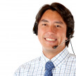 Business man with a headset — Stock Photo