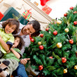 Christmas family portrait — Stockfoto