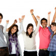 Excited group isolated — Stock Photo #7747726