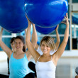 In aerobics class — Stock Photo