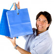 Man with shopping bags — Foto Stock
