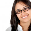 Stock Photo: Womwith eyeglasses