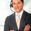 Man with a headset — Stock Photo