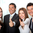 Business group with thumbs-up — Stock Photo