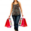 Fullbody shopping woman — Stock Photo