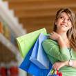 Beautiful shopping girl — Stock Photo #7748042