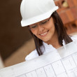 Royalty-Free Stock Photo: Architect with blueprints