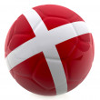 3D Denmark football - Stock Photo