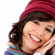 Stock Photo: Cute winter woman