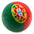 3D Portugal football — Stock Photo