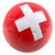 Royalty-Free Stock Photo: 3D Switzerland football