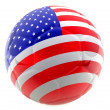 3D USA soccer ball — Stock Photo