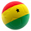 3D Ghana football - Stock Photo