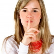 Keep it secret - Stock Photo