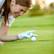 Royalty-Free Stock Photo: Golf woman