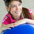 Gym female portrait — Stock Photo