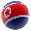 Stock Photo: 3D North Korea football