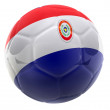 3D Paraguay football — Stock Photo