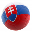 3D Slovakia football - Stock Photo
