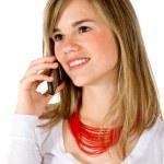 Beautiful woman on the phone — Stock Photo