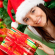 Royalty-Free Stock Photo: Woman with Christmas present