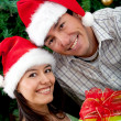 Christmas couple — Foto de Stock