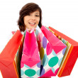 Shopping woman with bags - Stock Photo