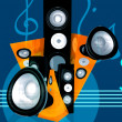 Abstract music illustration - Stockfoto