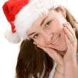 Beautiful female santa claus portrait — Stock Photo #7748588