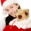 Female santa claus with gifts - Photo