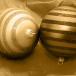 Christmas golden balls - Stock Photo
