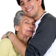 Stock Photo: Grandmother with grandson