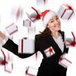 Business christmas bonus — Stock Photo