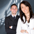 Business partners - young entrepreneurs — Stock Photo