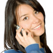 Beautiful girl talking on the phone — Stock Photo #7748680
