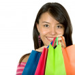 Stock Photo: Beautiful girl with shopping bags
