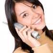 Beautiful girl on the phone — Stock Photo #7748696