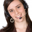 Stock Photo: Beautiful Customer Support Girl