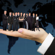 Business team worldwide — Stock Photo