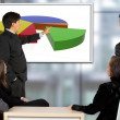 Corporate trainning - man presenting — Stock Photo