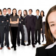 Entrepreneur and his business team — Stock Photo